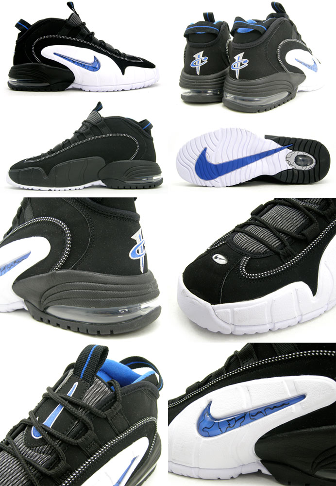 Nike Air Max Penny 1 'Orlando'. Black/Varsity Royal-White 311089-001  03/2011 – $125. Via Kinetics