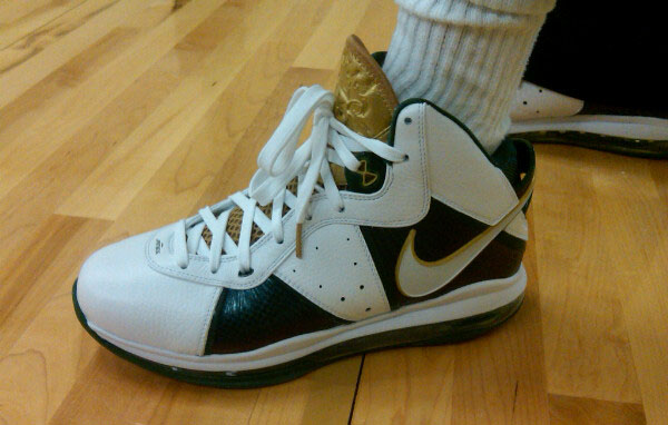 lebron 8. the LeBron 8 V1 on court.