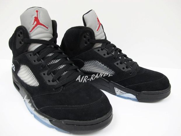 Air Jordan Retro 5 Black Metallic Silver (5)