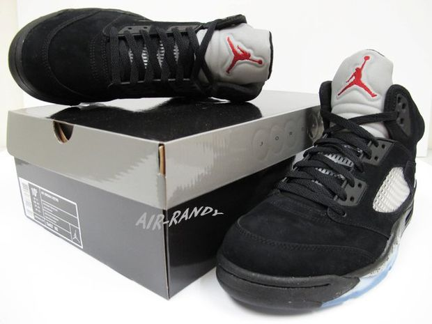 Air Jordan Retro 5 Black Metallic Silver (3)