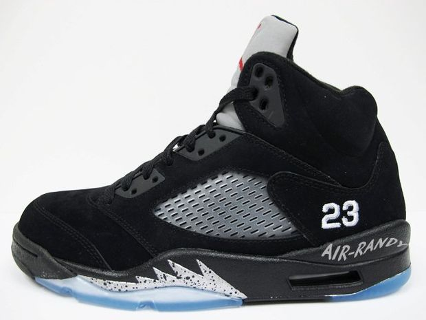Air Jordan Retro 5 Black Metallic Silver (2)
