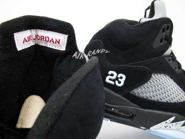 Air Jordan Retro 5 Black Metallic Silver (1)
