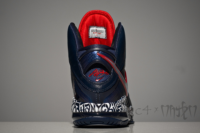 Nike Air Max Lebron 8 V1 NYC Custom (3)