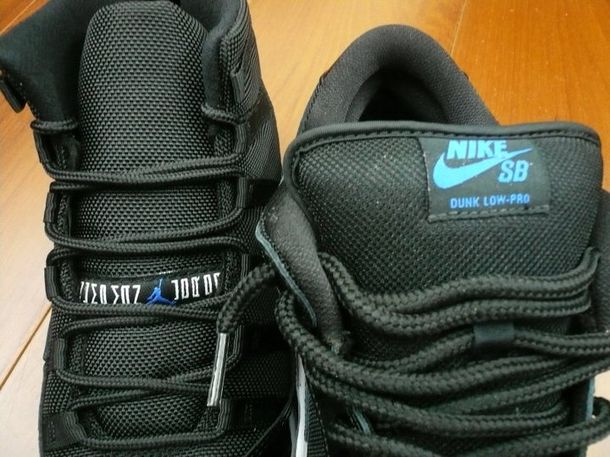 Air Jordan 11 and Nike SB Dunk Low 'Space Jam' Comparison (3)