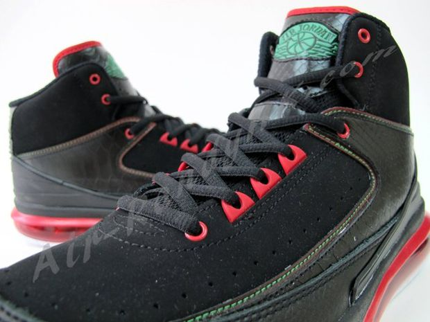 Air Jordan 2 Max Black Green Red White (8)