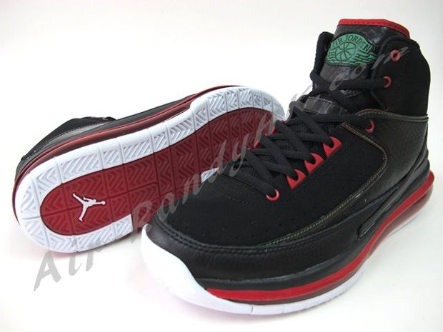 air jordan 2 max black green red white 7 高清图片