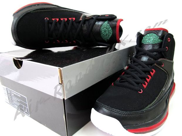 Air Jordan 2 Max Black Green Red White (5)