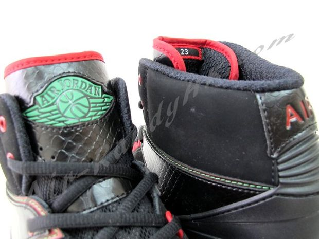 Air Jordan 2 Max Black Green Red White (3)