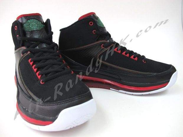 air jordan 2 max black green red white 2 高清图片