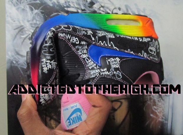 Nike Air Max 90 Busy P Customs by Mizzee (2)
