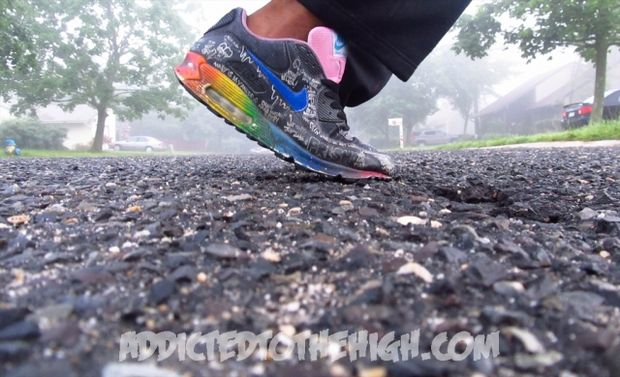 Nike Air Max 90 Busy P Customs by Mizzee (1)