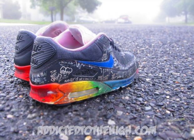 Nike Air Max 90 Busy P Customs by Mizzee (4)