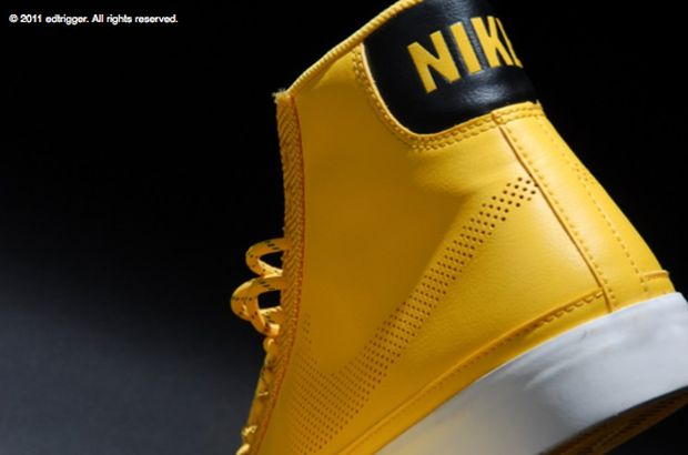 Nike Blazer High Black Yellow White (4)