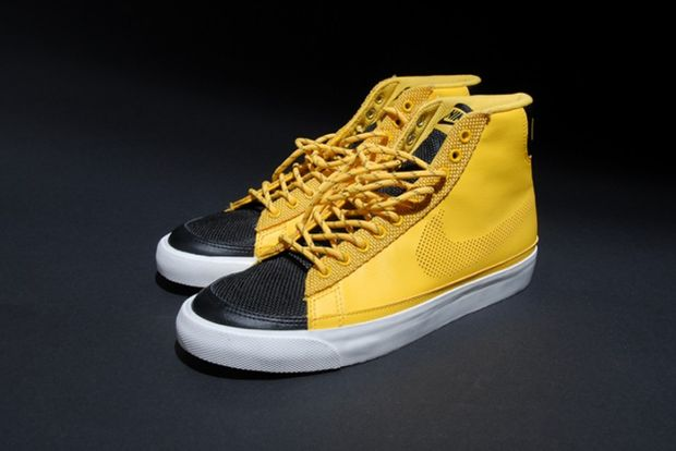 Nike Blazer High Black Yellow White (3)