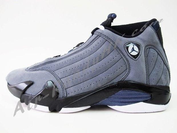 Air Jordan 14 Light Graphite Midnight Navy Black (8)