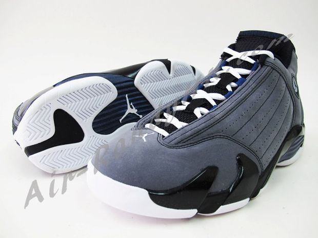 Air Jordan 14 Light Graphite Midnight Navy Black (7)