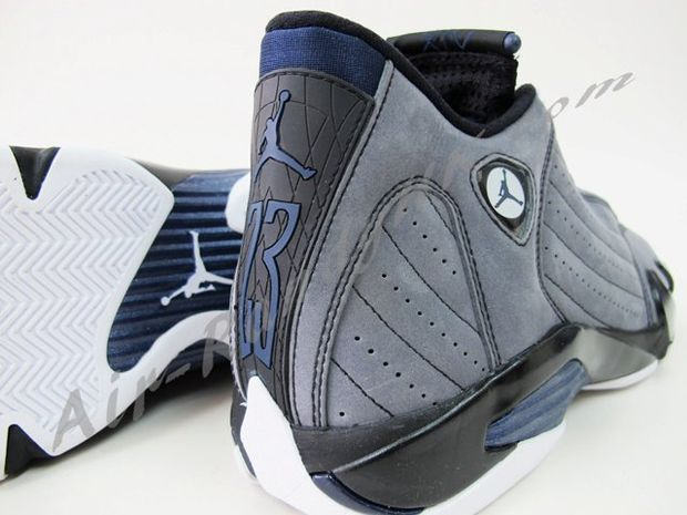 Air Jordan 14 Light Graphite Midnight Navy Black (6)