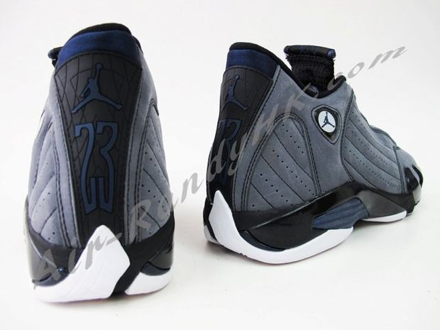 Air Jordan 14 Light Graphite Midnight Navy Black (5)