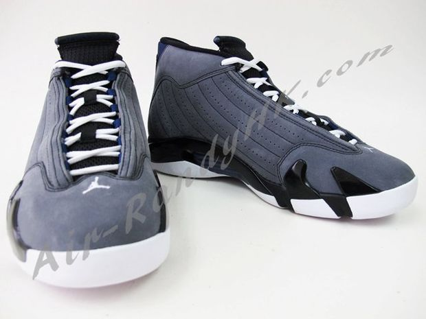 Air Jordan 14 Light Graphite Midnight Navy Black (4)