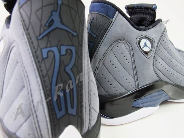 Air Jordan 14 Light Graphite Midnight Navy Black (1)