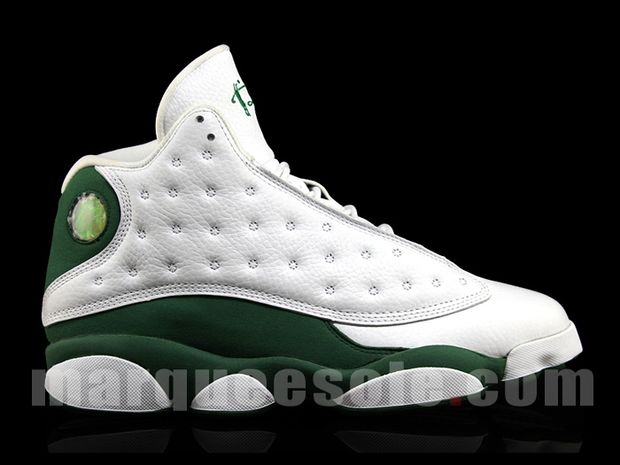 Air Jordan 13 Ray Allen 3 Point Boston Home PE (6)