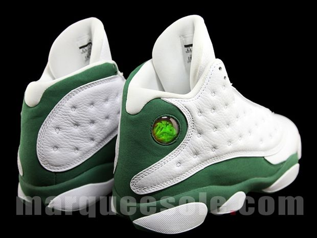 Air Jordan 13 Ray Allen 3 Point Boston Home PE (5)