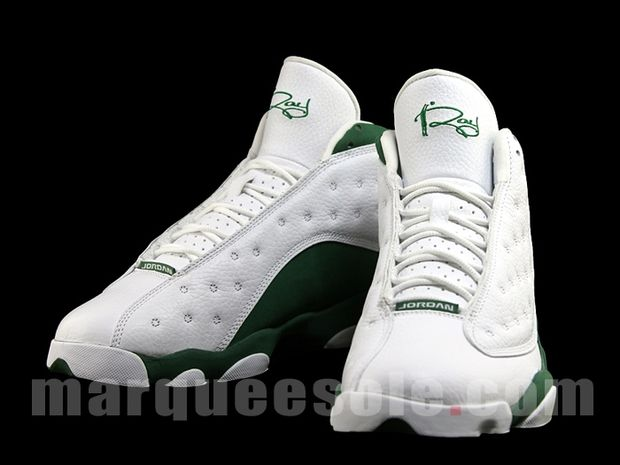 Air Jordan 13 Ray Allen 3 Point Boston Home PE (4)