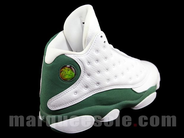 Air Jordan 13 Ray Allen 3 Point Boston Home PE (2)