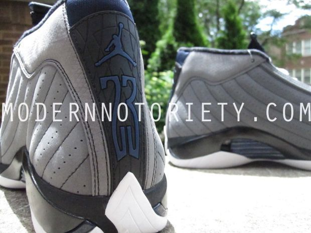 Air Jordan 14 XIV Light Graphite/Midnight Navy - Black (18)