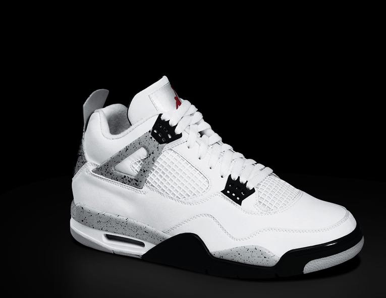 Air Jordan 4 White Black - Cement Grey  e8a0736a72d2