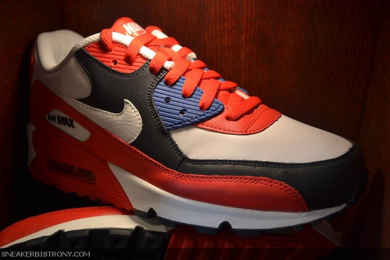 Nike Air Max 90 Sport Red - White - Navy (3)