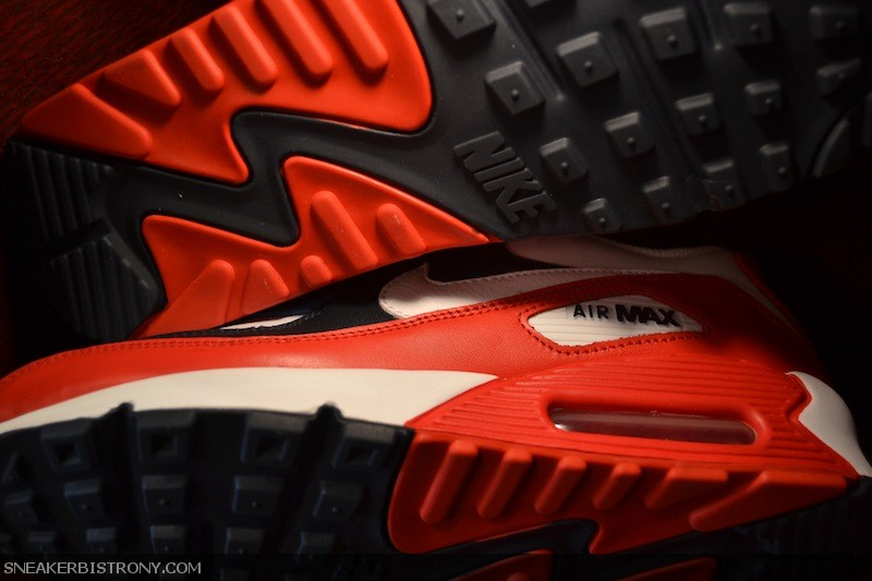 Nike Air Max 90 Sport Red - White - Navy (2)