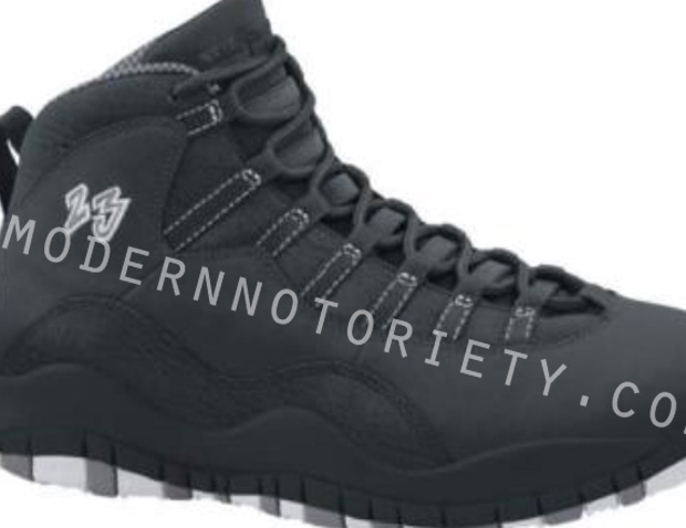 Air Jordan 10 Black White Stealth