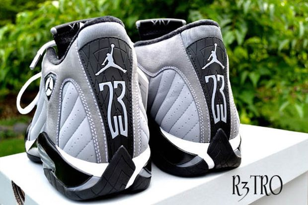 Air Jordan 14 Light Graphite Black White (1)
