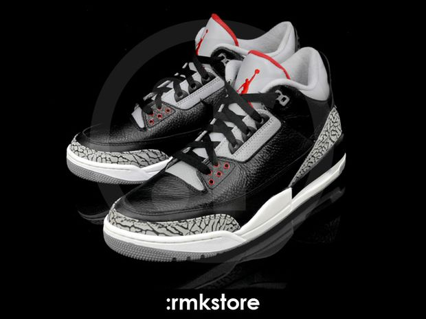 Air Jordan 3 Black / Cement 2011 (11)