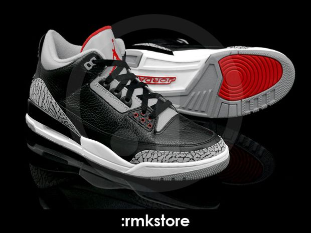 Air Jordan 3 Black / Cement 2011 (10)