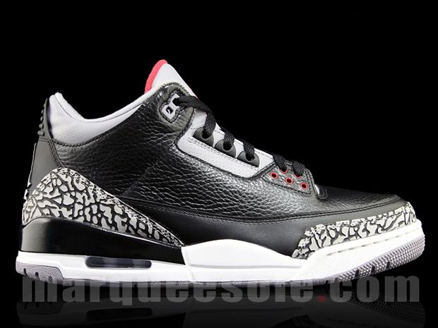 Air Jordan 3 Black / Cement 2011 (2)