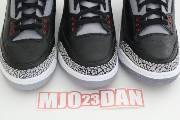 Air Jordan Black Cement 3 Comparison (3)