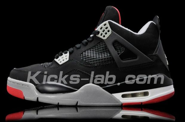 Air Jordan 4 Black / Red Cement - Grey (9)