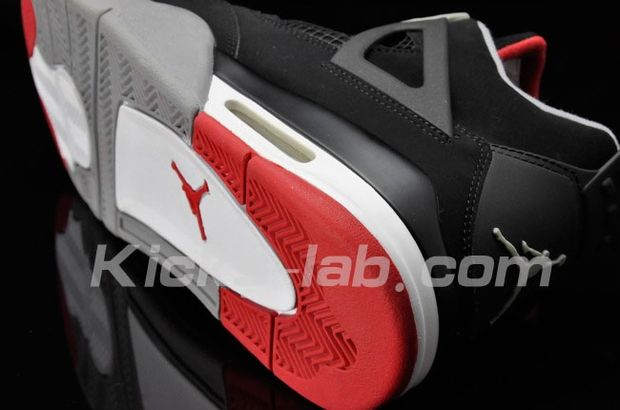 Air Jordan 4 Black / Red Cement - Grey (3)