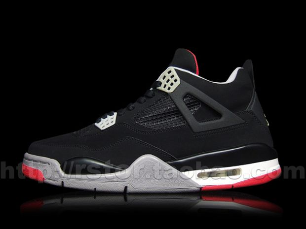 Air Jordan 4 Black / Red - Cement (4)