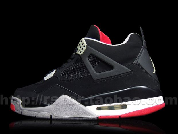 Air Jordan 4 Black / Red - Cement (3)