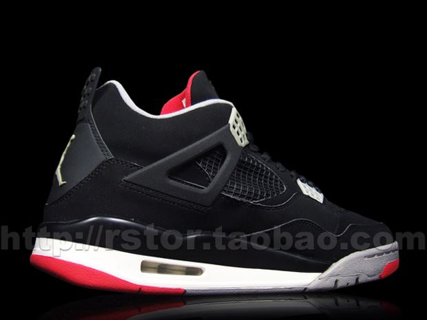 Air Jordan 4 Black / Red - Cement (2)
