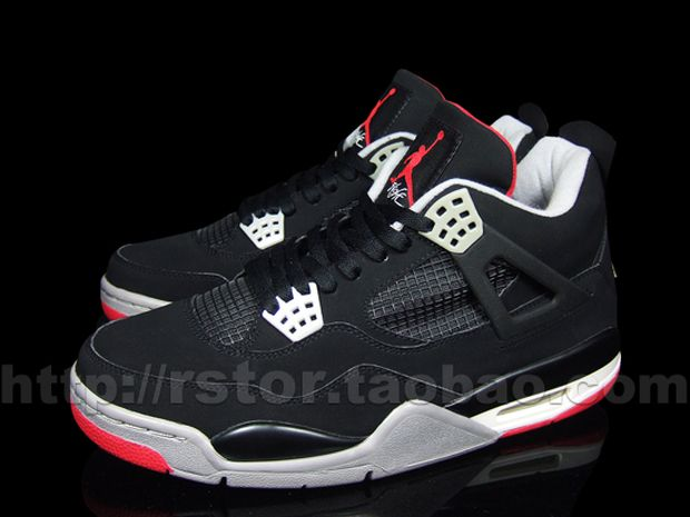 Air Jordan 4 Black / Red - Cement (1)