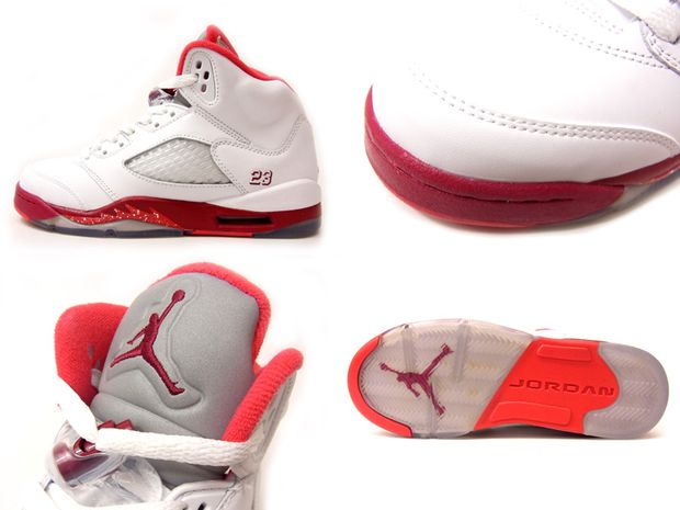 Air Jordan 5 GS White Legacy Red Scarlet Fire (1)