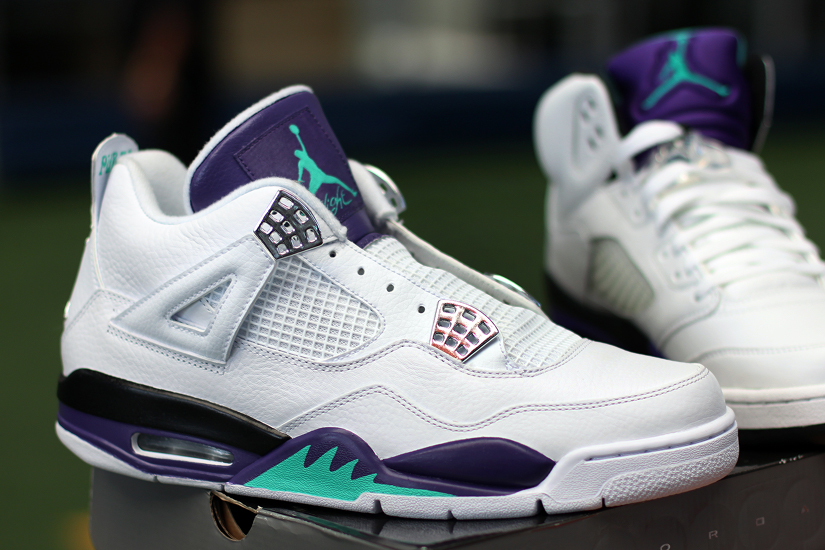 Air Jordan IV Grape Custom (1)