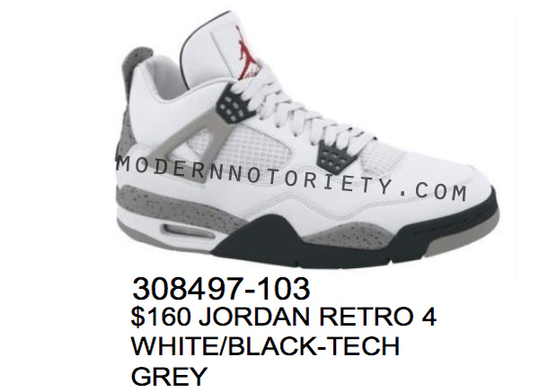 Air Jordan IV White / Cement Grey 2012 (2)