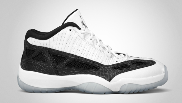 Air Jordan 11 Retro Low White/Metallic Silver-Black (3)