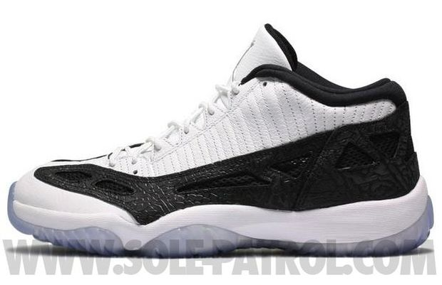Air Jordan 11 Low White / Black - Metallic Silver (2)