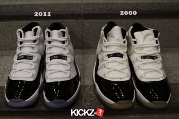 0eb3c4311c1 Nike Rumble: Air Jordan 11 Concord 2000 and 2011 Comparison